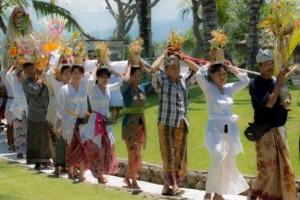 Dajuma temple festival Puri Dajuma, Beach Eco-Resort & Spa, West Bali