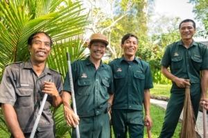 Dajuma Green hands team Puri Dajuma, Beach Eco-Resort & Spa, West Bali