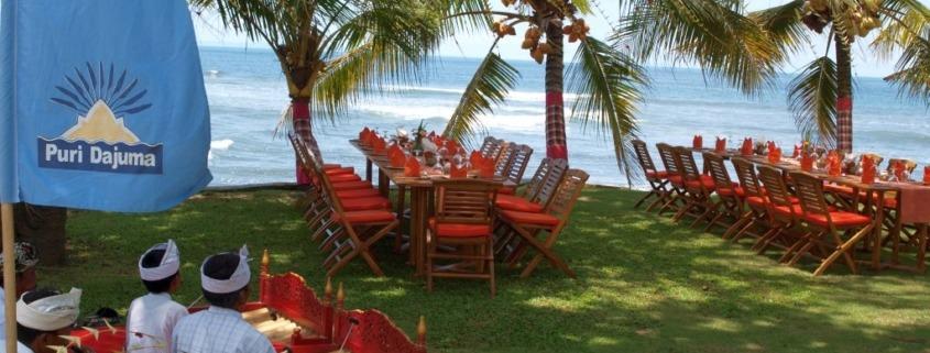 Dajuma Beach Front Lunch Puri Dajuma, Beach Eco-Resort & Spa, West Bali