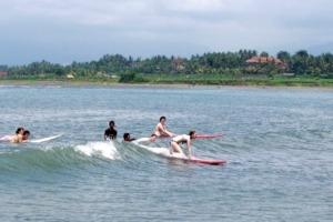 Surfing lessons Puri Dajuma, Beach Eco-Resort & Spa, West Bali