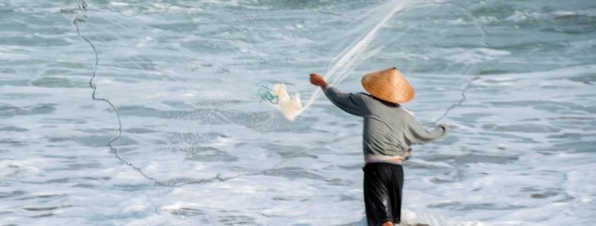 Traditional fishing Puri Dajuma, Beach Eco-Resort & Spa, West Bali