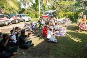 Tumpek Landep celebration Puri Dajuma, Beach Eco-Resort & Spa, West Bali