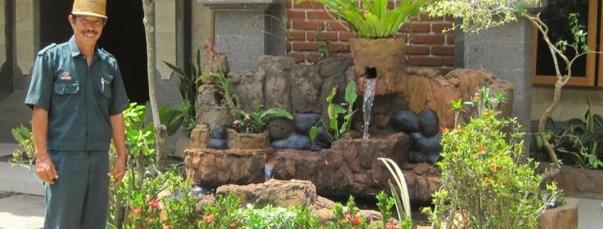 A new beautiful fountain at Dajuma Puri Dajuma, Beach Eco-Resort & Spa, West Bali