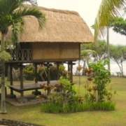 A new roof for Dajuma lovely rice barn Puri Dajuma, Beach Eco-Resort & Spa, West Bali