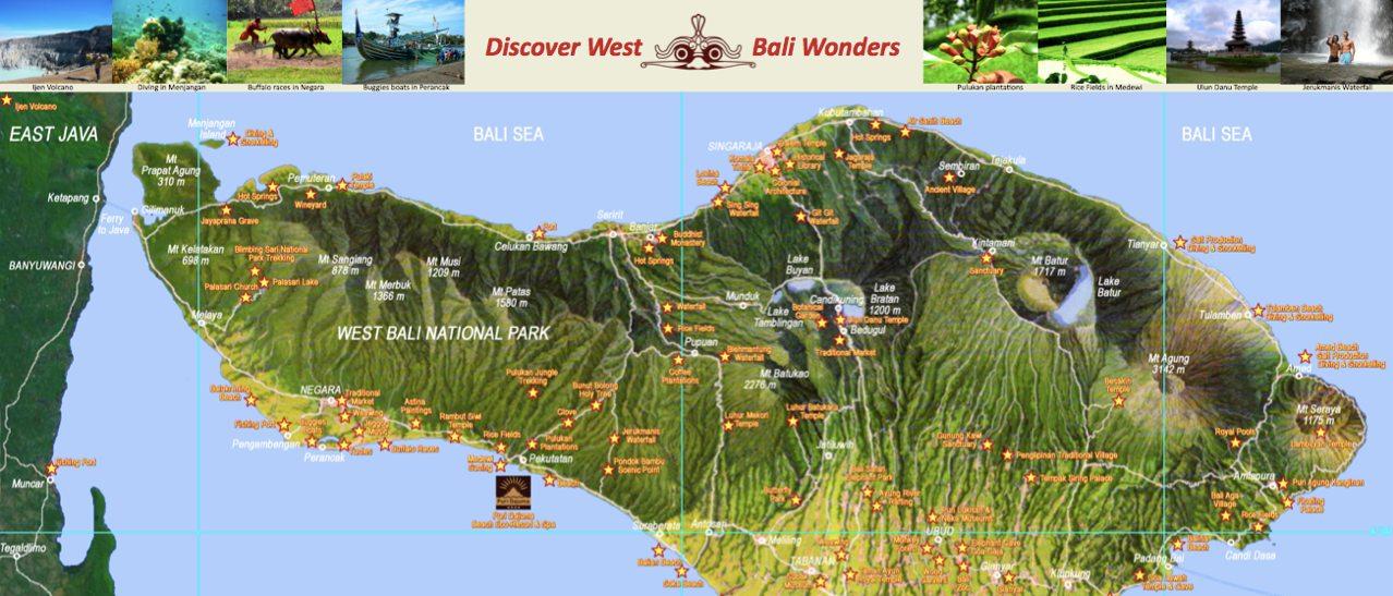 Bali Free Map