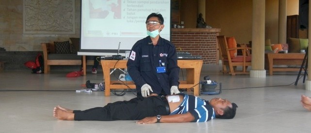 First Aid training Puri Dajuma, Beach Eco-Resort & Spa, West Bali