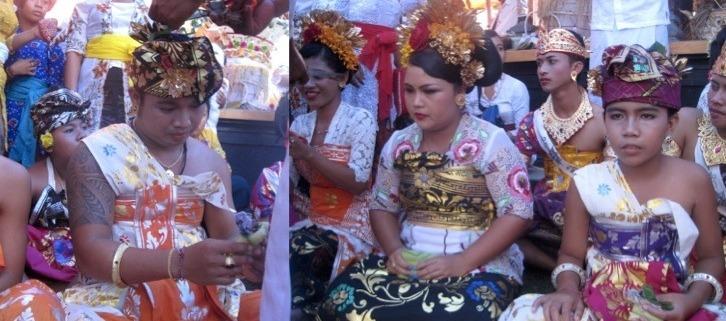 Bayu, Ayu and Ari celebrated their Mepetik ceremony Puri Dajuma, Beach Eco-Resort & Spa, West Bali