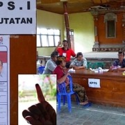 Presidential elections seen from Pekutatan Puri Dajuma, Beach Eco-Resort & Spa, West Bali