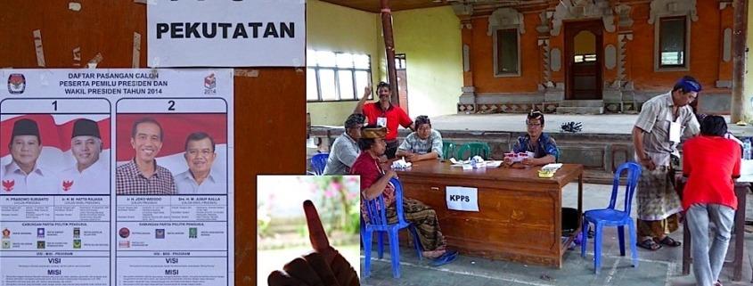 Presidential elections seen from Pekutatan Puri Dajuma, Beach Eco-Resort & Spa, West Bali