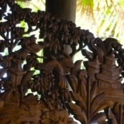 Wood carving in Bali Puri Dajuma, Beach Eco-Resort & Spa, West Bali