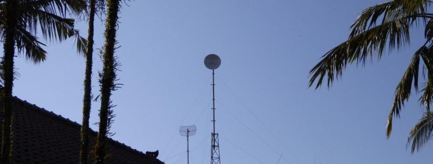 New Internet Antenna at Dajuma Puri Dajuma, Beach Eco-Resort & Spa, West Bali