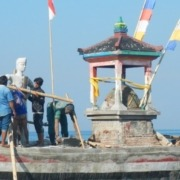 Renovation of our boat monument Puri Dajuma, Beach Eco-Resort & Spa, West Bali