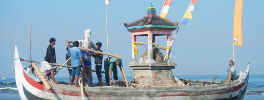 Renovation of our boat monument Puri Dajuma, Beach Eco-Resort & Spa, West Bali