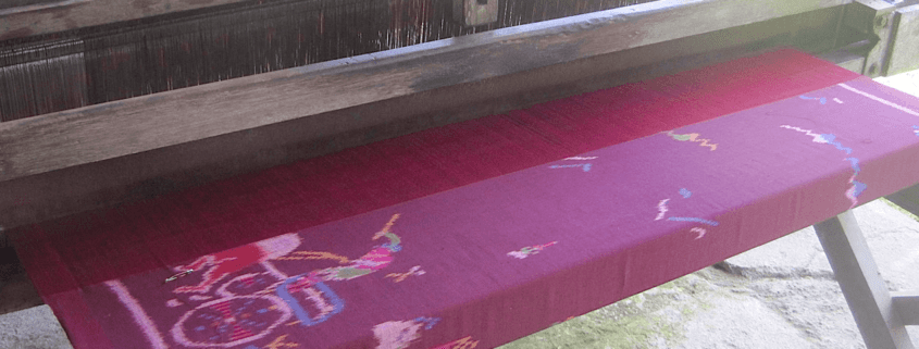 Traditional weaving looms… Puri Dajuma, Beach Eco-Resort & Spa, West Bali