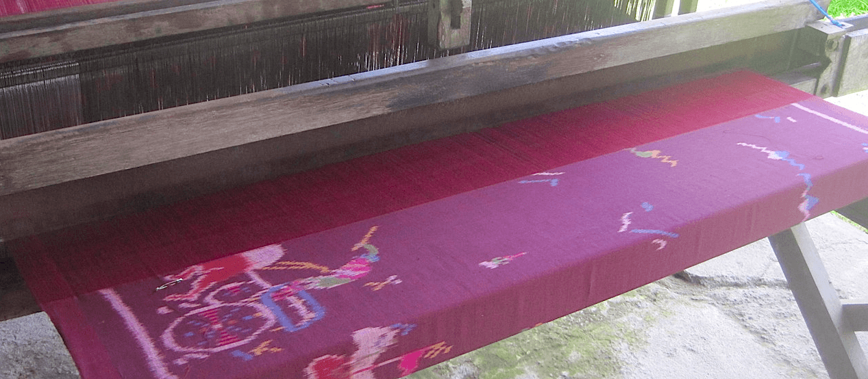 Traditional weaving looms