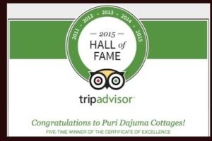 DAJUMA REWARDED BY TRIP ADVISOR Puri Dajuma, Beach Eco-Resort & Spa, West Bali
