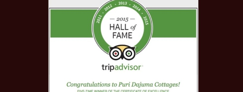 DAJUMA REWARDED BY TRIP ADVISOR Puri Dajuma, Beach Eco-Resort & Spa, West Bali