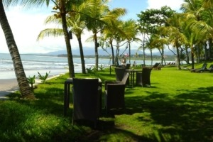What is a true beachfront ? Puri Dajuma, Beach Eco-Resort & Spa, West Bali