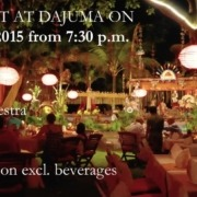 SPECIAL EVENT AT DAJUMA ON AUGUST 25th, 2015 from 7:30 p.m. Puri Dajuma, Beach Eco-Resort & Spa, West Bali