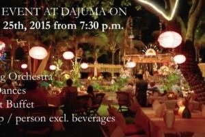 SPECIAL EVENT AT DAJUMA ON AUGUST 25th, 2015 from 7:30 p.m. Puri Dajuma, Beach Eco-Resort & Spa, West Bali
