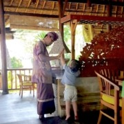 MORNING' GREETING Puri Dajuma, Beach Eco-Resort & Spa, West Bali Culture Dajuma Eco-Resort People West Bali