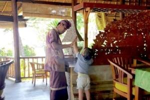 MORNING' GREETING Puri Dajuma, Beach Eco-Resort & Spa, West Bali Culture Dajuma Eco-Resort People West Bali