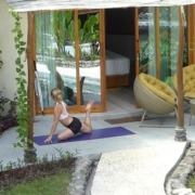 YOGA AT HOME ! Puri Dajuma, Beach Eco-Resort & Spa, West Bali yoga