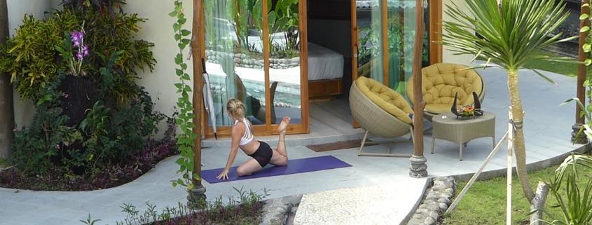 YOGA AT HOME ! Puri Dajuma, Beach Eco-Resort & Spa, West Bali yoga