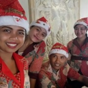 MERRY CHRISTMAS FROM OUR FRONT DESK TEAM! Puri Dajuma, Beach Eco-Resort & Spa, West Bali Merry Christmas 2016