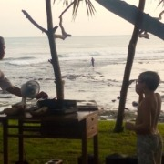 COOKING CLASS ON THE BEACH Puri Dajuma, Beach Eco-Resort & Spa, West Bali Beach Dajuma Restaurant