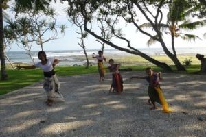 PEKUTATAN DANCING SCHOOL ON DAJUMA STAGE Puri Dajuma, Beach Eco-Resort & Spa, West Bali