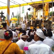 RELIGIOUS CEREMONY AT RAMBUT SIWI TEMPLE Puri Dajuma, Beach Eco-Resort & Spa, West Bali