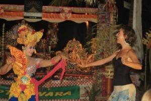 JOGED BUMBUNG DANCE AT DAJUMA Puri Dajuma, Beach Eco-Resort & Spa, West Bali dancing gamelan jegog music tradition Dancing - Music People
