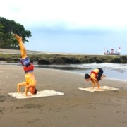 YOGA ON THE BEACH Puri Dajuma, Beach Eco-Resort & Spa, West Bali beach sea yoga Beach Sport Yoga