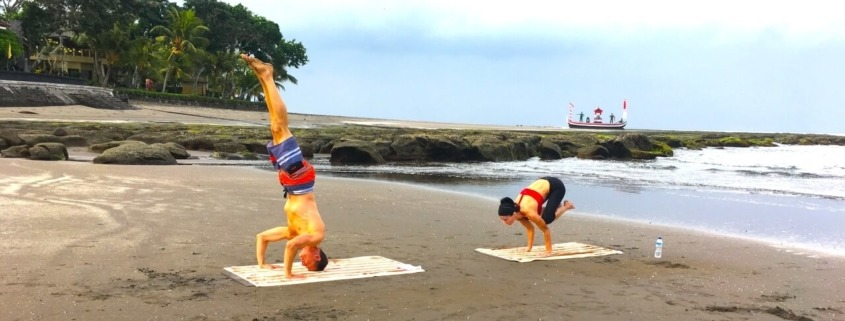 YOGA ON THE BEACH Puri Dajuma, Beach Eco-Resort & Spa, West Bali beach sea yoga Beach Sport Yoga