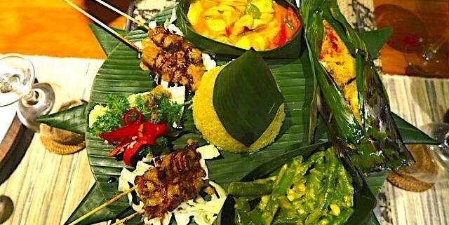 RIJSTTAFEL: A MUST OF INDONESIAN CUISINE Puri Dajuma, Beach Eco-Resort & Spa, West Bali restaurant rijsttafel food