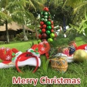 MERRY CHRISTMAS Puri Dajuma, Beach Eco-Resort & Spa, West Bali