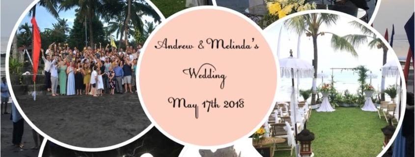 CONGRATULATIONS TO MELINDA & ANDREW Puri Dajuma, Beach Eco-Resort & Spa, West Bali wedding