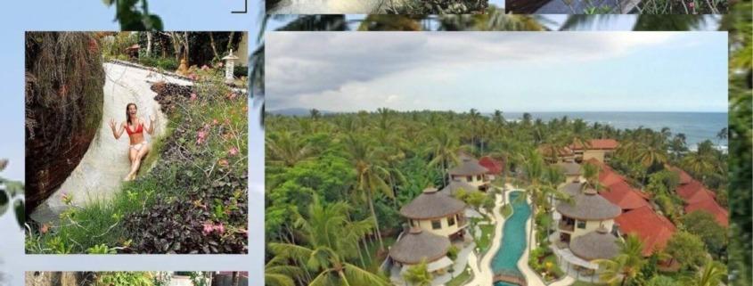 WHY WALK TO THE NEXT POOL WHEN YOU CAN TAKE THE SLIDE? Puri Dajuma, Beach Eco-Resort & Spa, West Bali bendega sliding pool