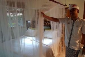 """OPEN-BED"" NEW PROCEDURE AT DAJUMA Puri Dajuma, Beach Eco-Resort & Spa, West Bali dajuma bedroom"