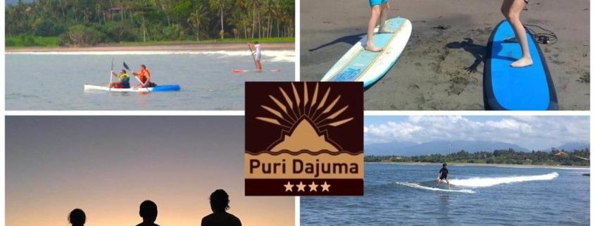 SURFING AT DAJUMA Puri Dajuma, Beach Eco-Resort & Spa, West Bali Beach Dajuma