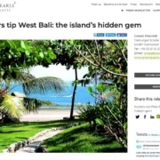 Dajuma at the front-page of GreenPearls Newsletter Puri Dajuma, Beach Eco-Resort & Spa, West Bali