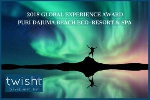 """DAJUMA REWARDED BY """"2018 GLOBAL EXPERIENCE AWARD 2018"""" Puri Dajuma, Beach Eco-Resort & Spa, West Bali"""