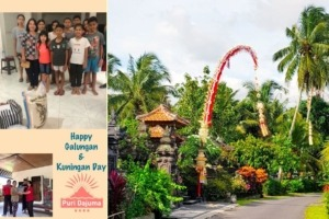 HAPPY GALUNGAN & KUNINGAN Puri Dajuma, Beach Eco-Resort & Spa, West Bali