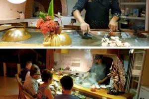 DID YOU TRY OUR TEPPANYAKI? Puri Dajuma, Beach Eco-Resort & Spa, West Bali Restaurant West Bali
