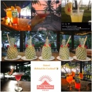 SUNSET BEHIND THE COCKTAIL Puri Dajuma, Beach Eco-Resort & Spa, West Bali