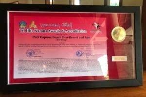 "DAJUMA AWARDED ""TRI HITA KARANA"" Puri Dajuma, Beach Eco-Resort & Spa, West Bali"