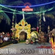 HAPPY NEW YEAR! Puri Dajuma, Beach Eco-Resort & Spa, West Bali music jegog gamelan dancing