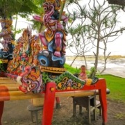 LEARNING BEAUTIFUL JEGOG MUSIC Puri Dajuma, Beach Eco-Resort & Spa, West Bali jegog music