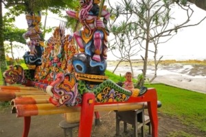 LEARNING BEAUTIFUL JEGOG MUSIC Puri Dajuma, Beach Eco-Resort & Spa, West Bali jegog music